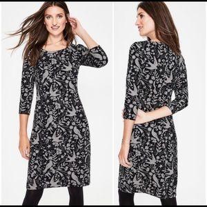 NWOT Boden Winifred Jersey Jacquard Bird Dress